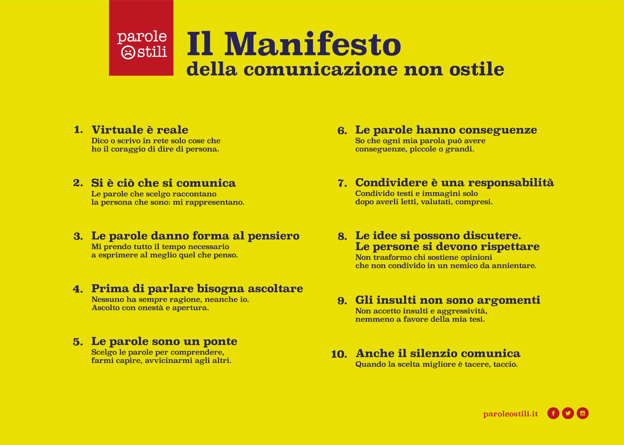 Manifesto della comunicazione non o-stile online