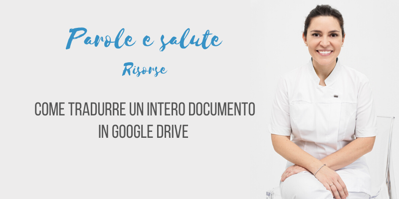Come tradurre un intero documento su Google Drive